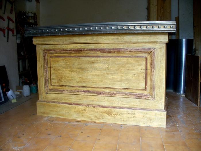 Comptoir bar zinc occasion fabulous meuble bar meuble bar for Bar en zinc d occasion