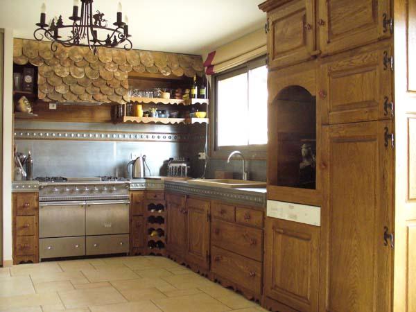 Zinc worktop for the kitchen plan de travail en zinc pour for Plaque de zinc pour recouvrir un meuble